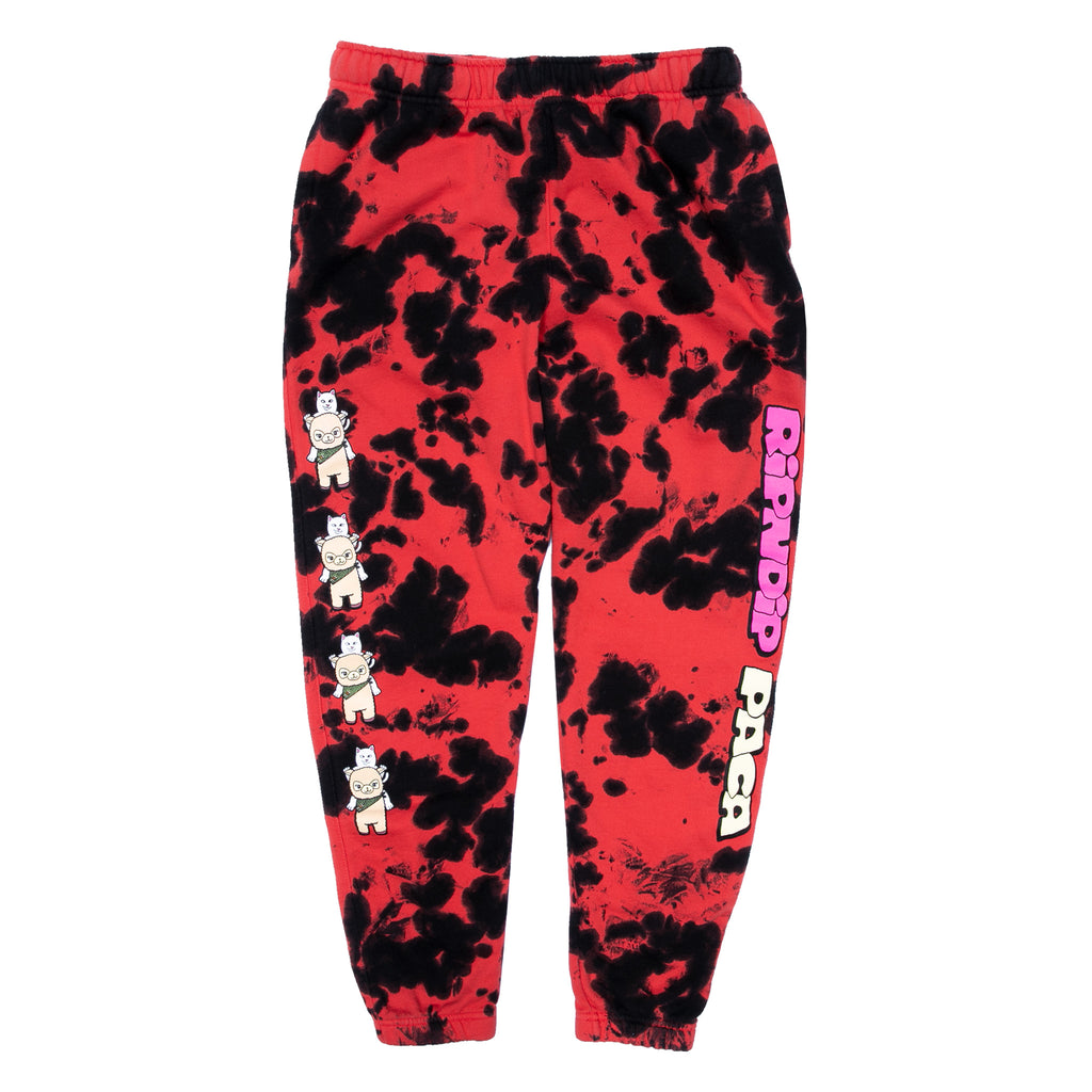 RIPNDIP x Paca Sweat Pants (Red/Black Bloch)