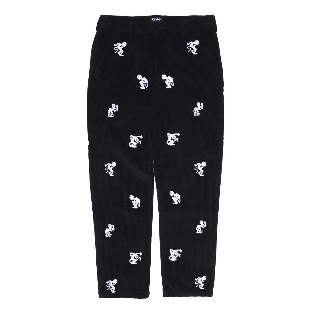Dance Party Corduroy Pants (Black)