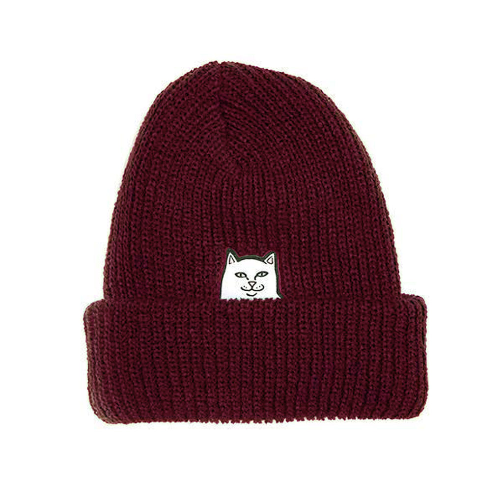 Lord Nermal Ribbed Beanie (Burgundy)