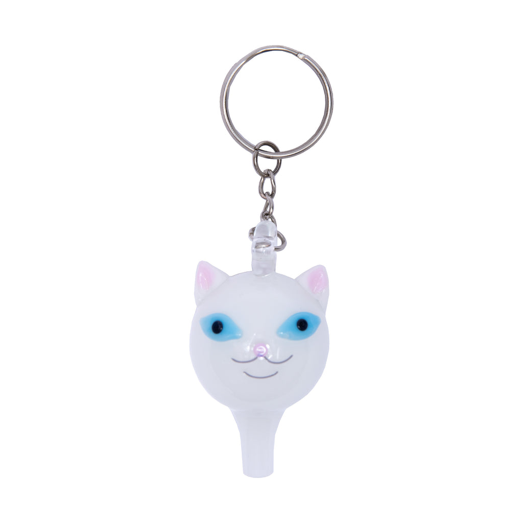 Lord Nermal Glass Carb Cap Keychain (White)
