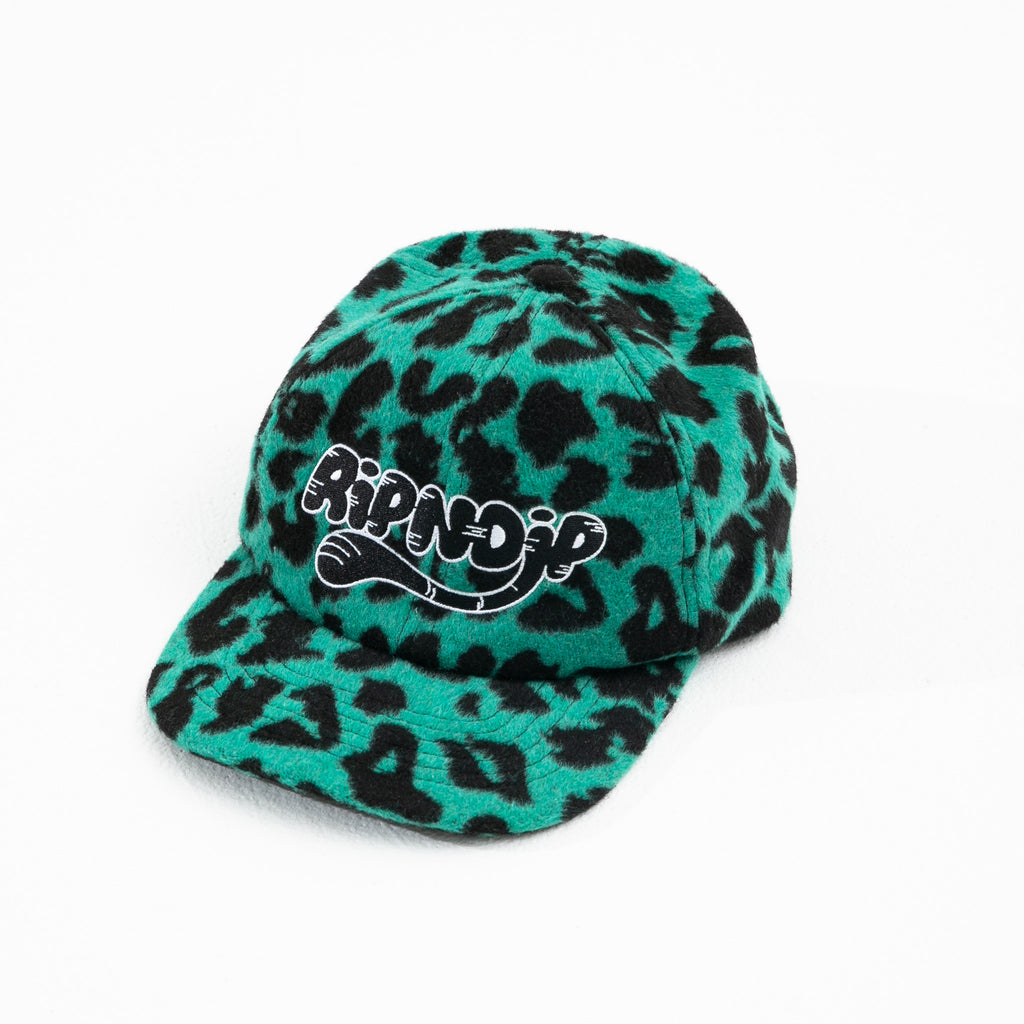 Cheetah 6 Panel Hat (Teal)
