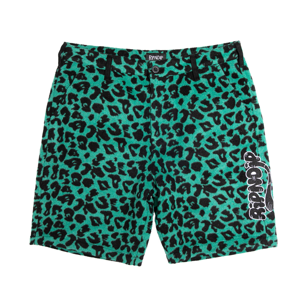 Ripntail Cheetah Shorts (Teal / Black)
