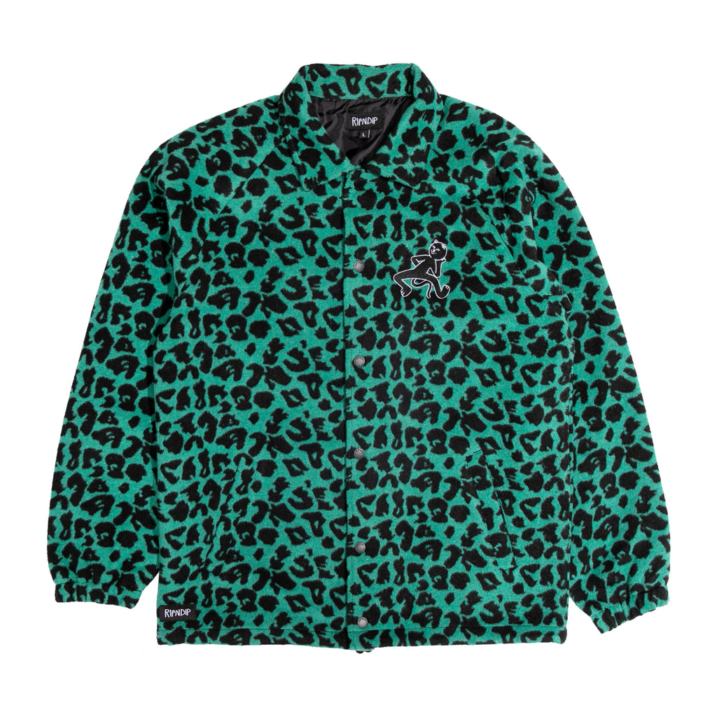 Ripntail Cheetah Coaches Jacket (Teal / Black)