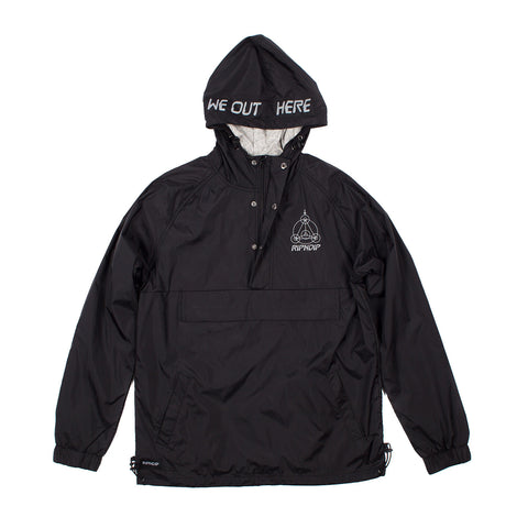 Crop Circles Reflective Jacket (Black)