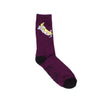 Nermal Banana Socks (Burgundy Heather)
