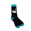 Falling For Nermal Socks (Black & Turquoise)