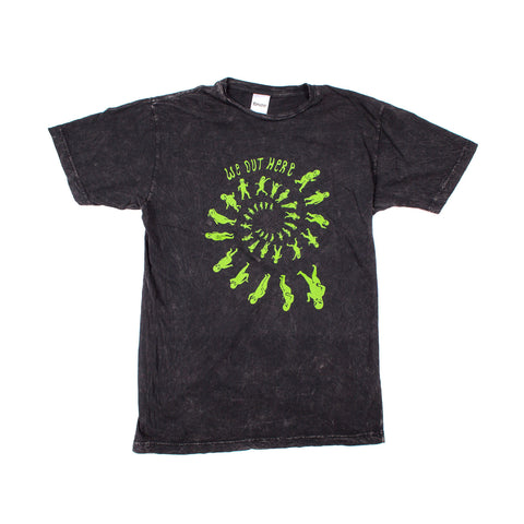 We Out Here Party Tee (Black Mineral Wash)