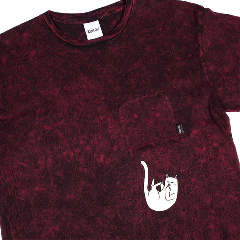 Falling For Nermal Tee (Burgundy Mineral Wash)