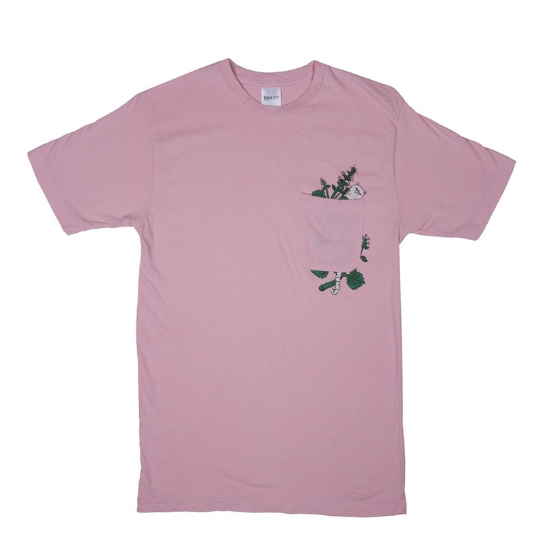 Botanical Pocket Tee (Blush)