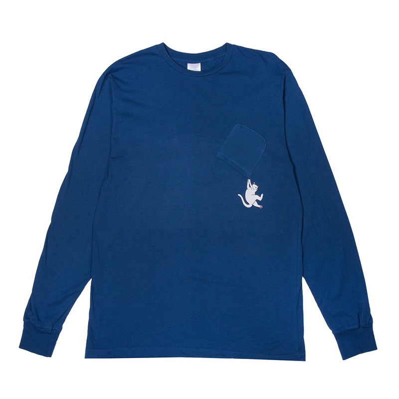 Hang In There L/S (Blue Heather)