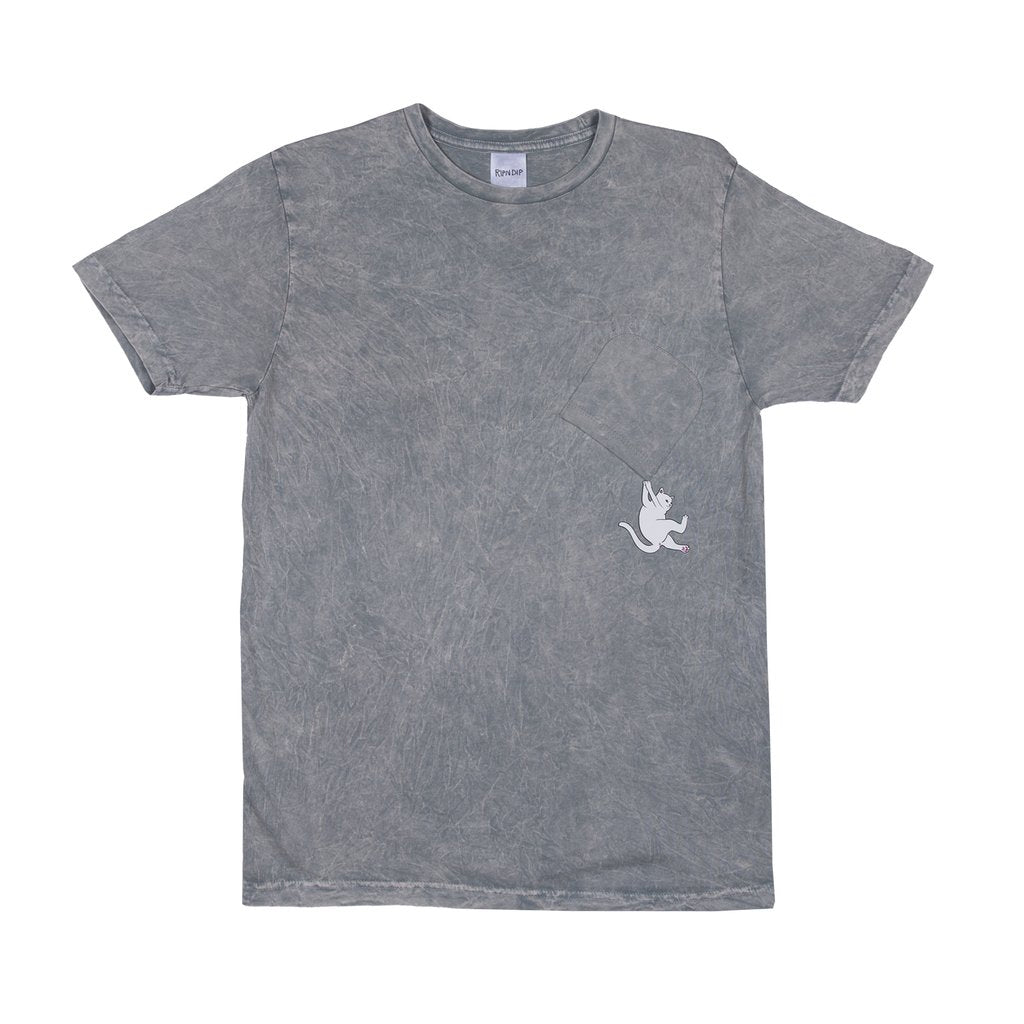 Hang In There Pocket Tee (Gray Mineral Wash)
