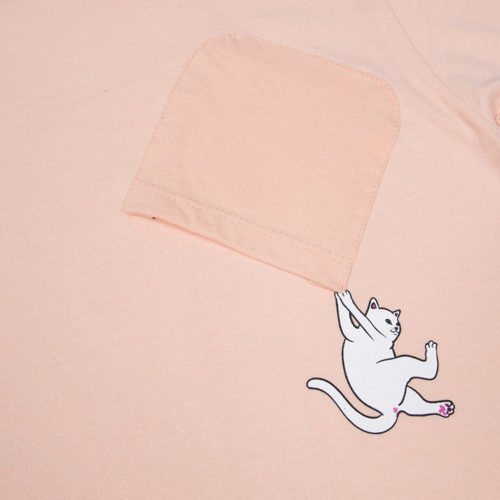 Hang In There Pocket Tee (Peach)