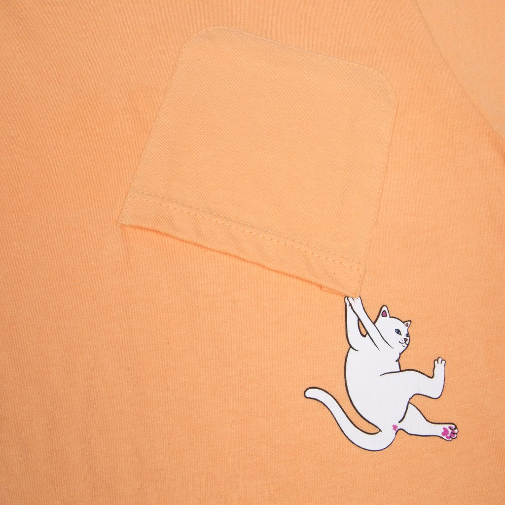 Hang In There Pocket Tee (Orange)