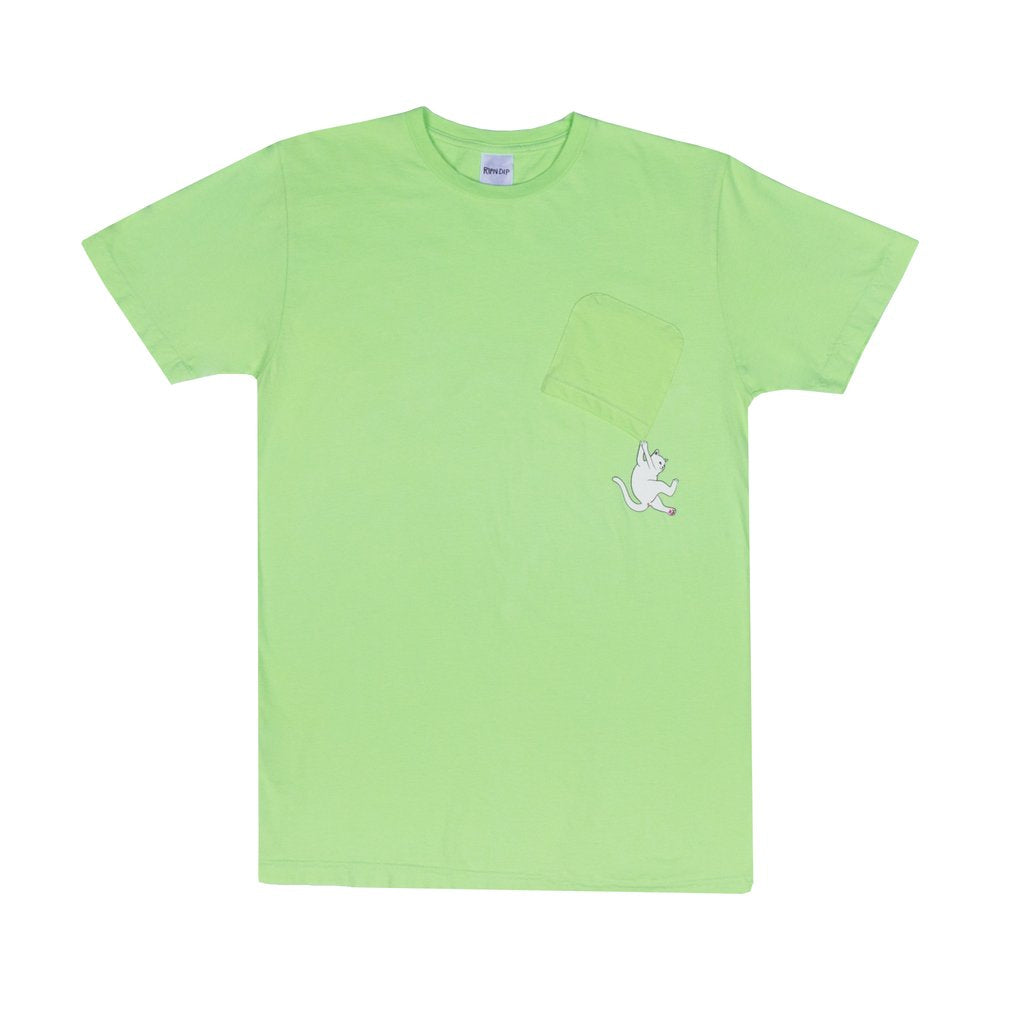Hang In There Pocket Tee (Lime)