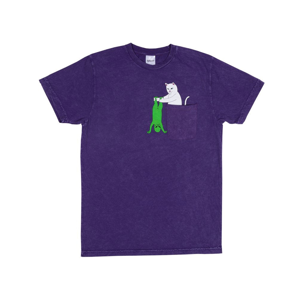 Break Yo Self Pocket Tee (Purple Mineral Wash)