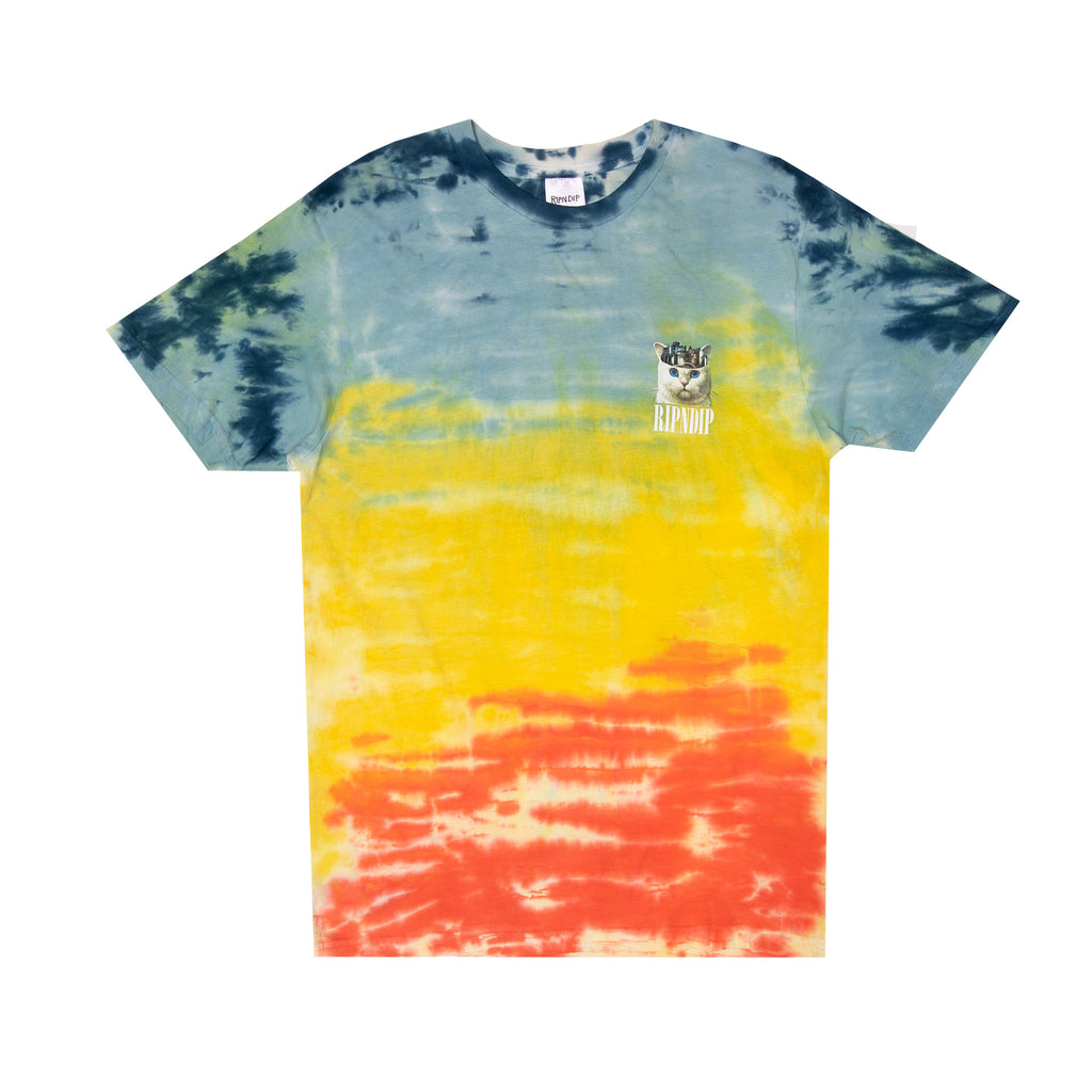 Masterpiece Tee (Orange / Blue Tie Dye)