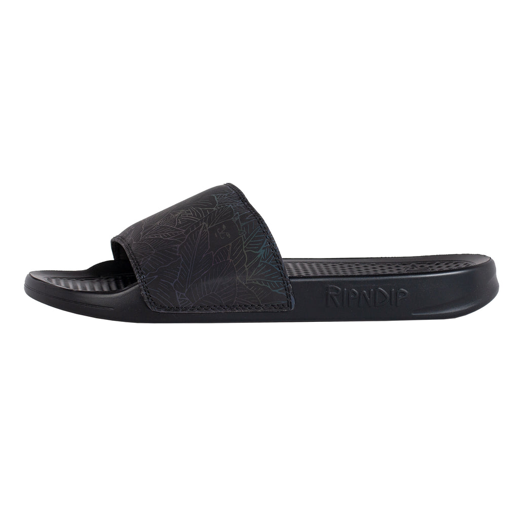 Nermal Leaf Slides (Black Iridescent)
