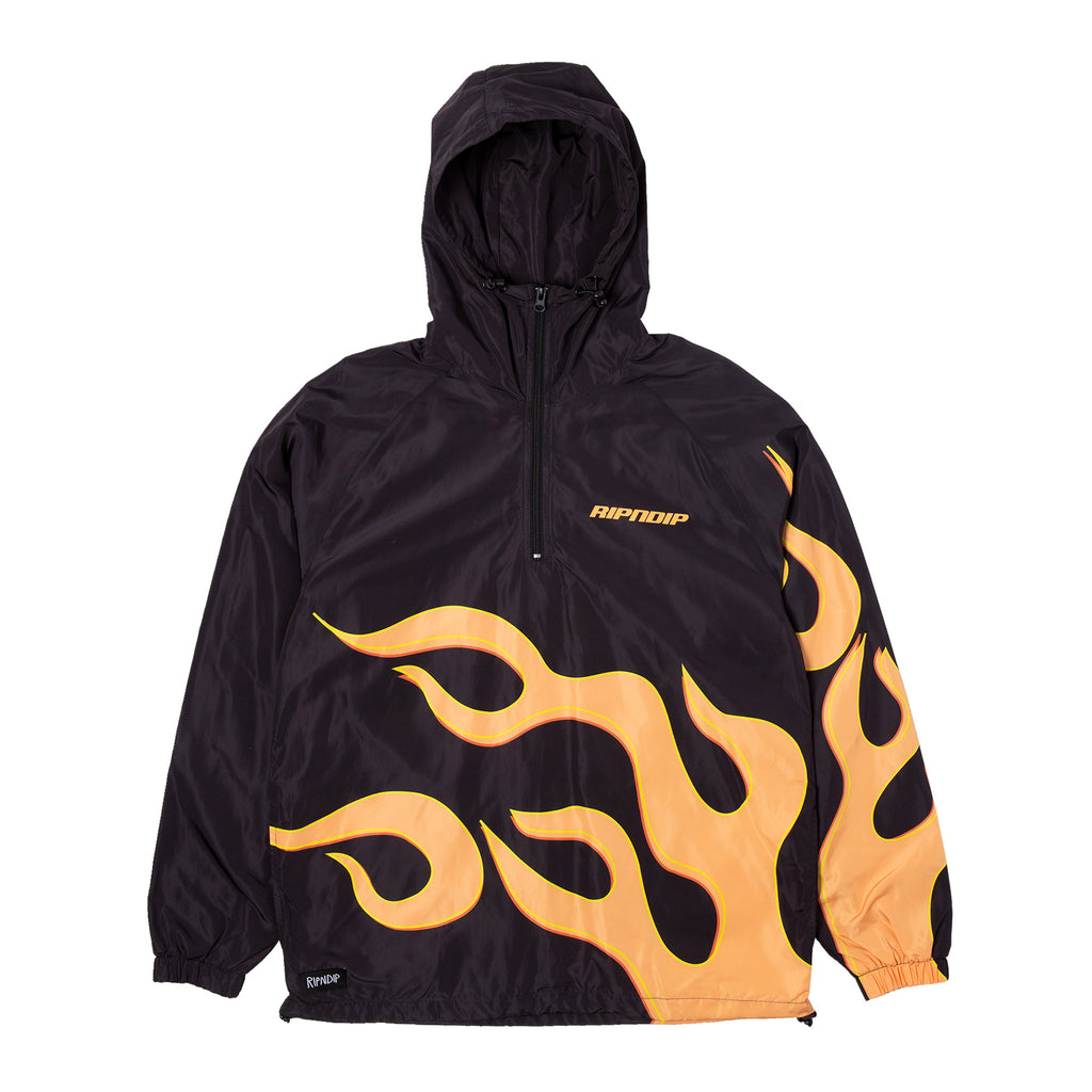Flaming Hot Anorak Jacket (Black)