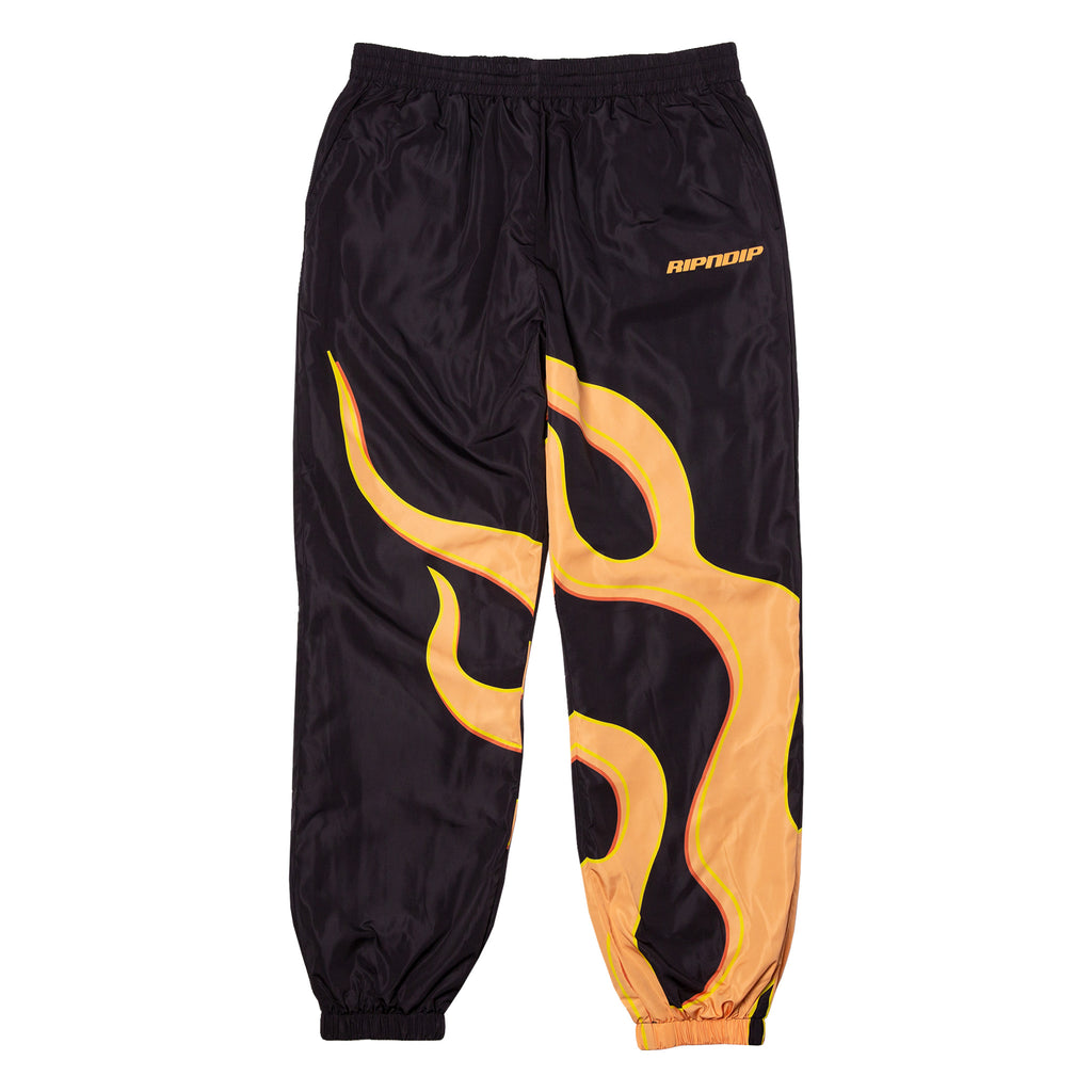 Flaming Hot Track Pants (Black)