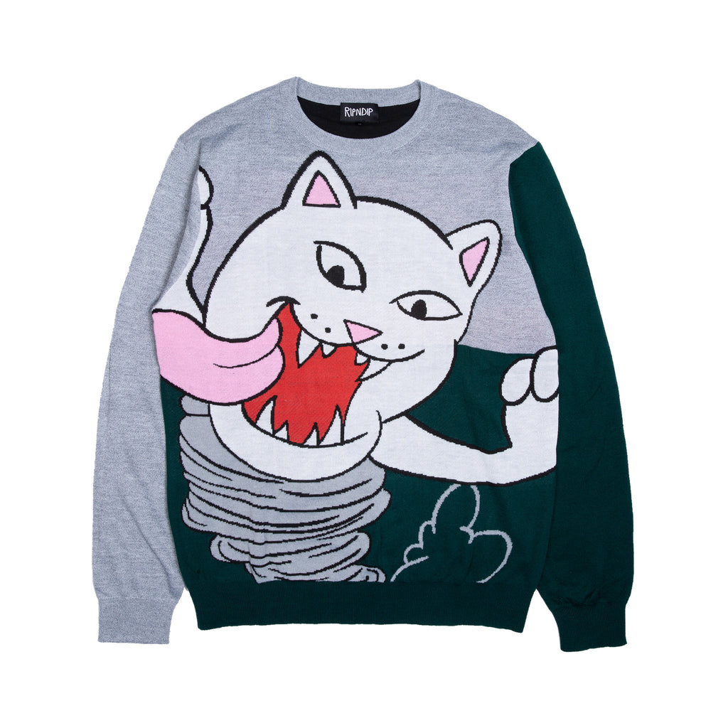 Nermanian Devil Sweater (Heather / Green)