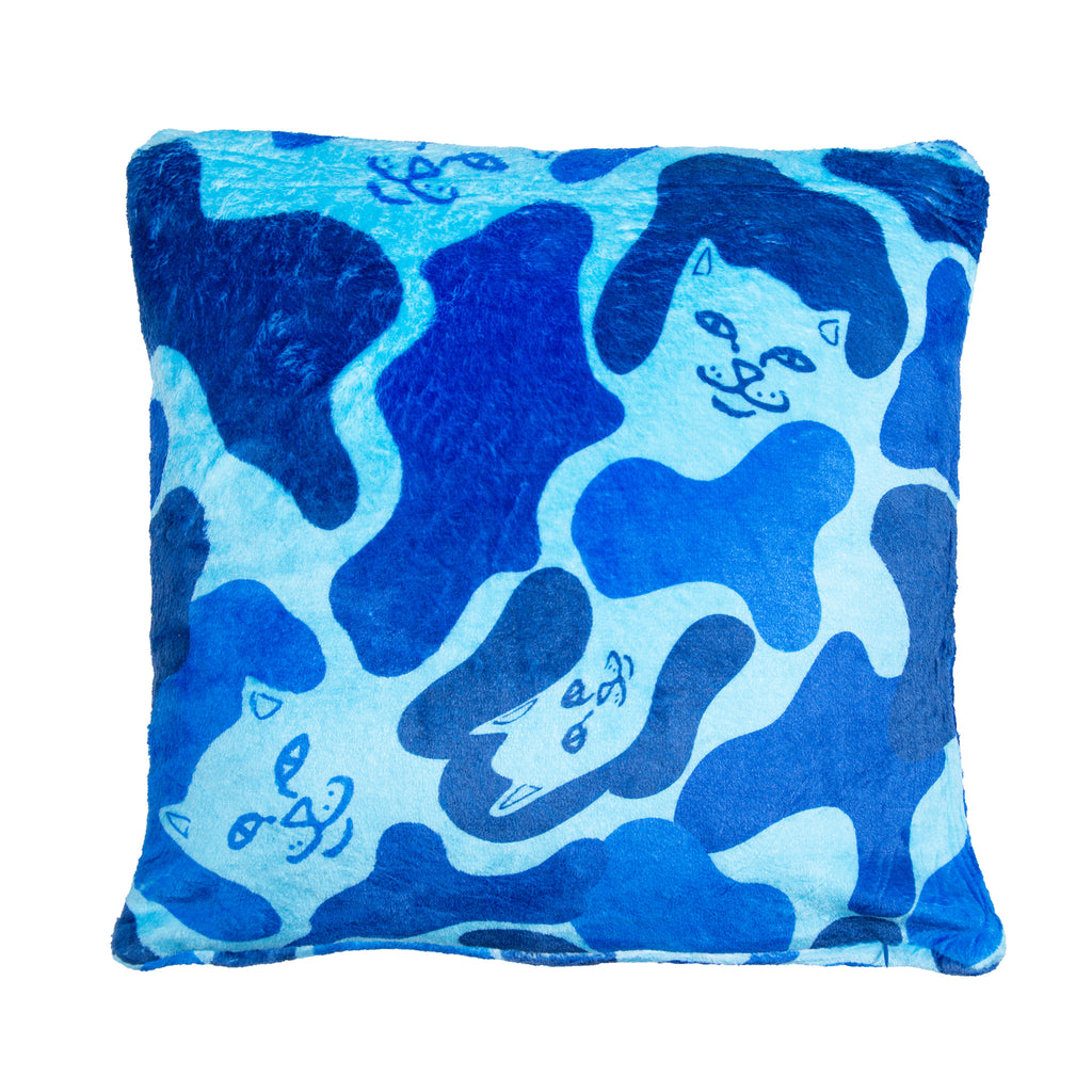 Nerm Camo Fluffy Pillow (Blue Camo)