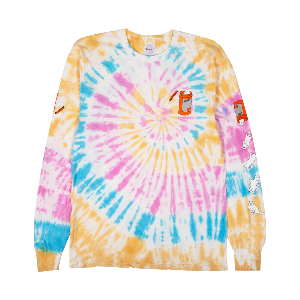 Nermal Pills L/S (Gold Rainbow Wash)