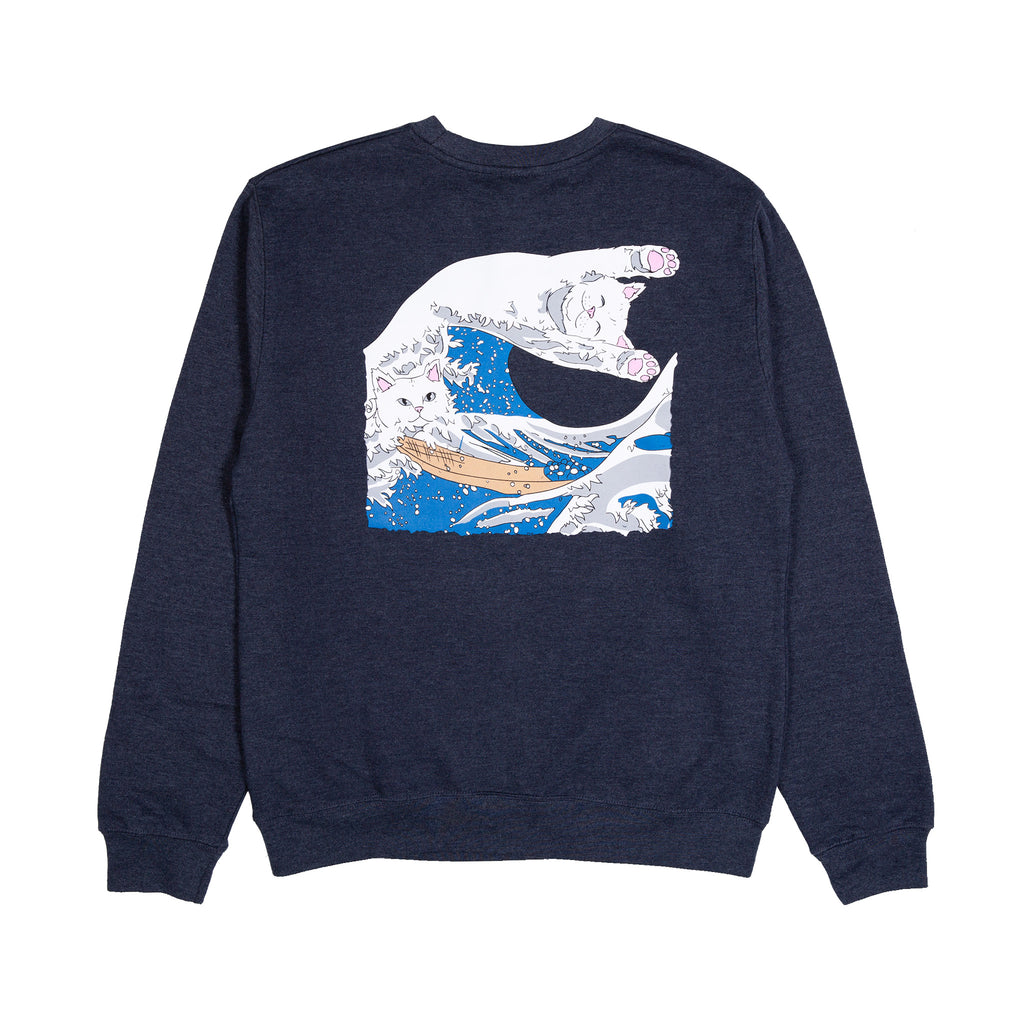 Great Wave Crewneck (Navy)