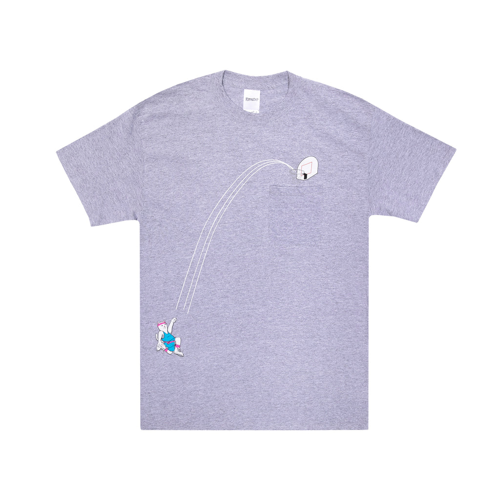 Hoops Pocket Tee (Heather Grey )