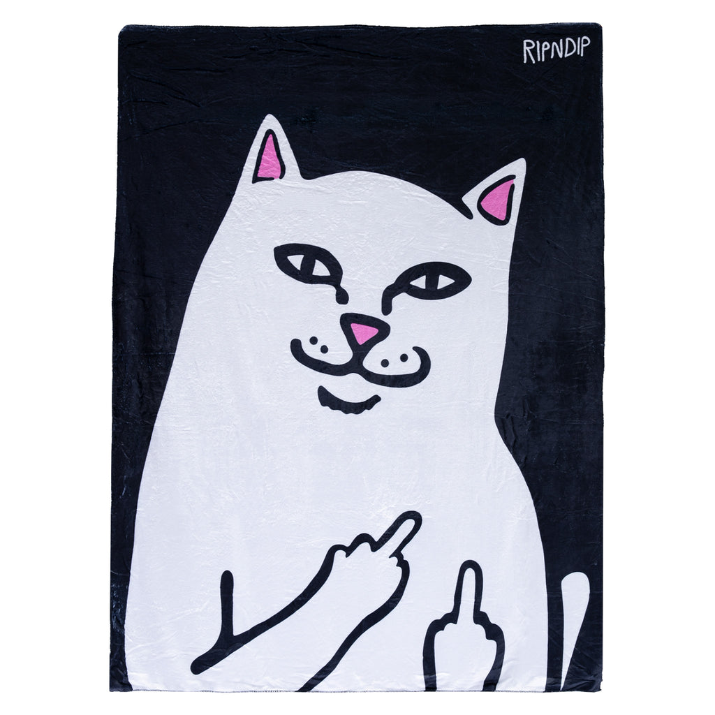Lord Nermal Throw Blanket (Black)