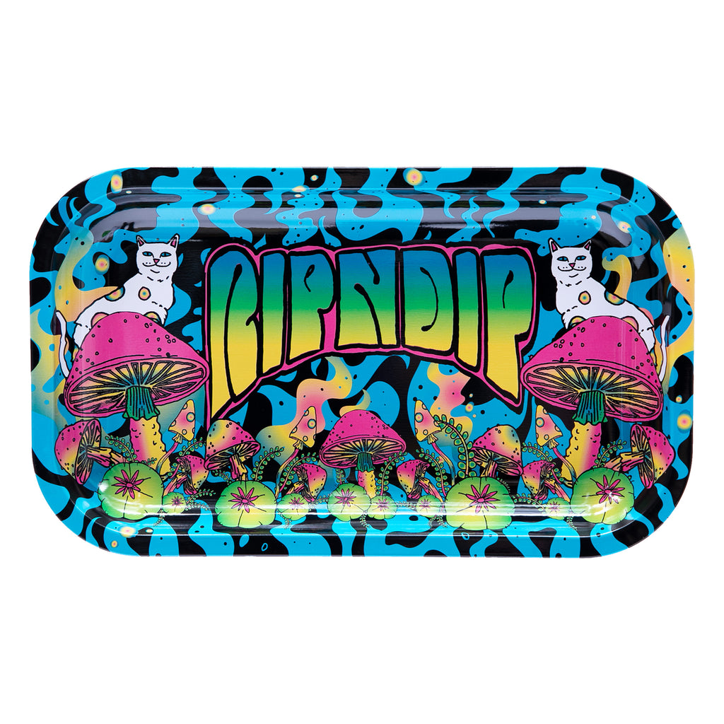 Psychedelic Rolling Tray (Black/Blue)
