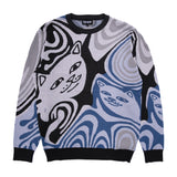 Hypnotic Knitted Sweater (Charcoal)