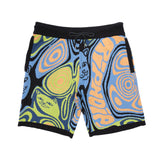 Hypnotic Knit Shorts (Blue/Neon)
