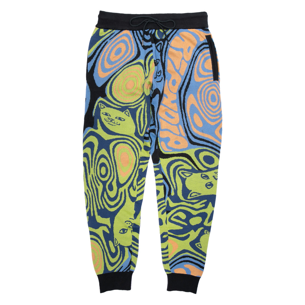 Hypnotic Knit Pants (Blue/Neon)