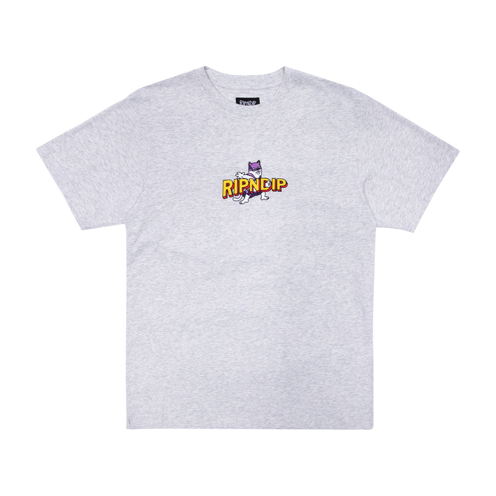 Captain Nermal Pants Embroidered Tee (Heather Grey)