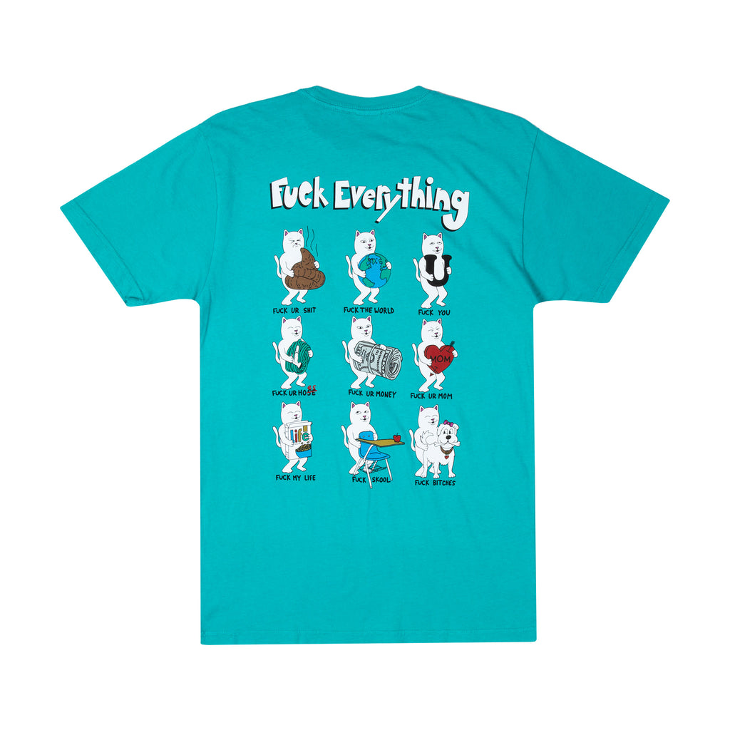 Fuck Everything Tee (Aqua)