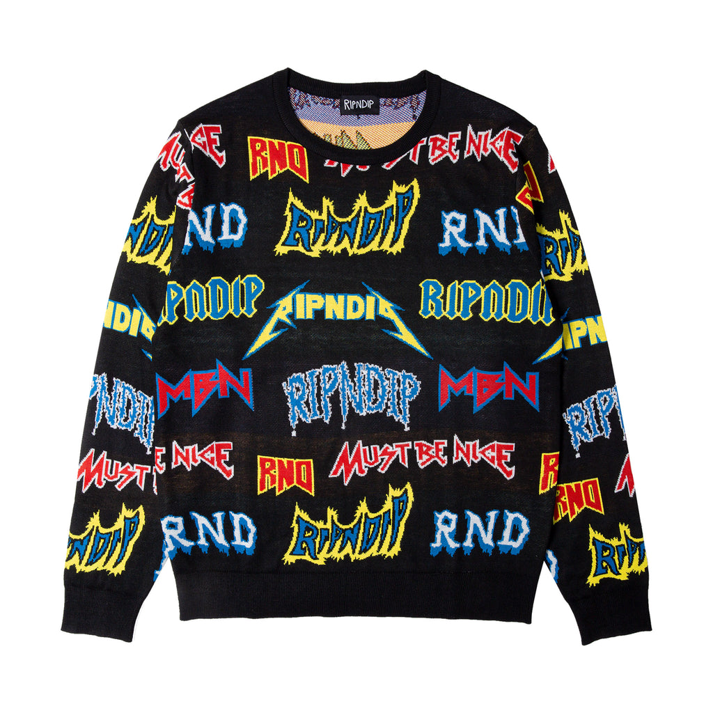 Rock N Nerm Sweater (Black)