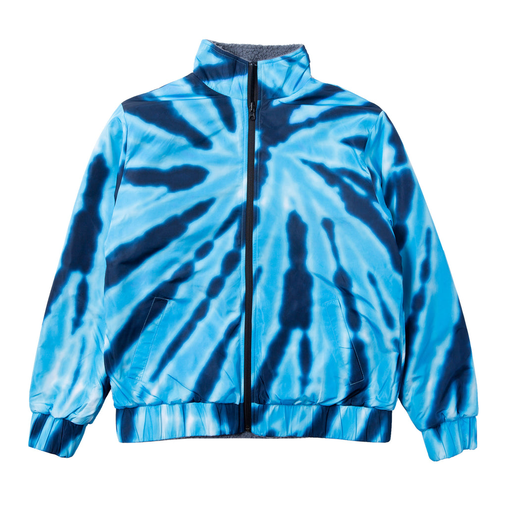 Pill Reversible Sherpa Varsity Jacket (Gray / Blue Dye)
