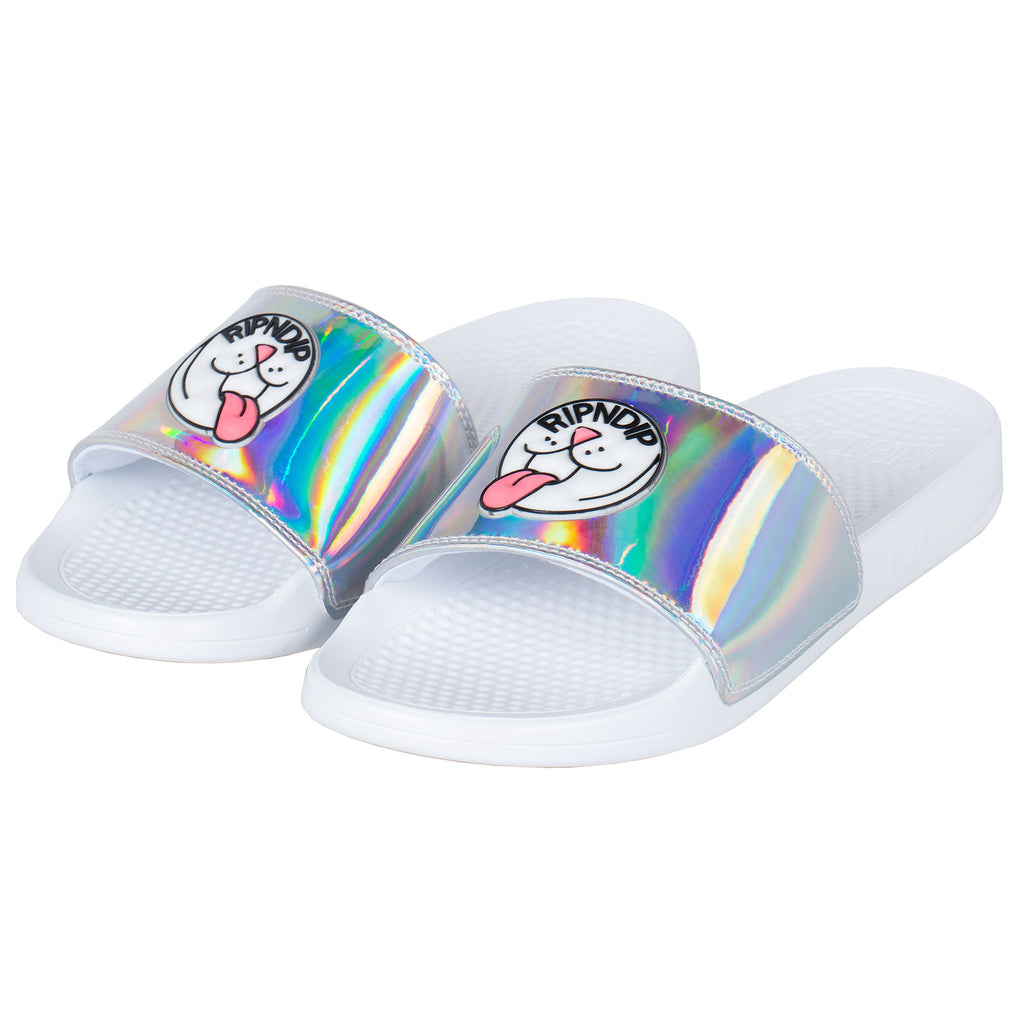Pill Iridescent Slides (White)