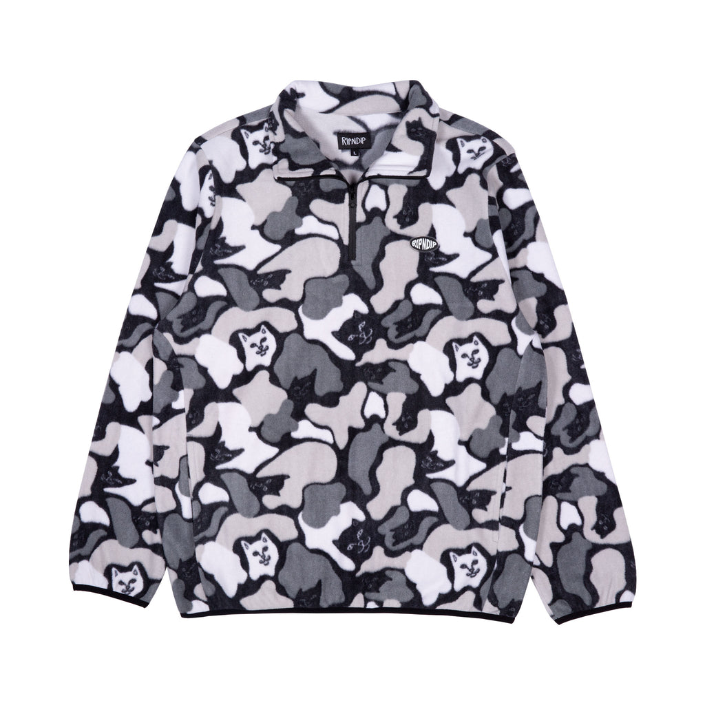 Nermcamo Brushed Fleece 3/4 Zip Up (Gray Camo)
