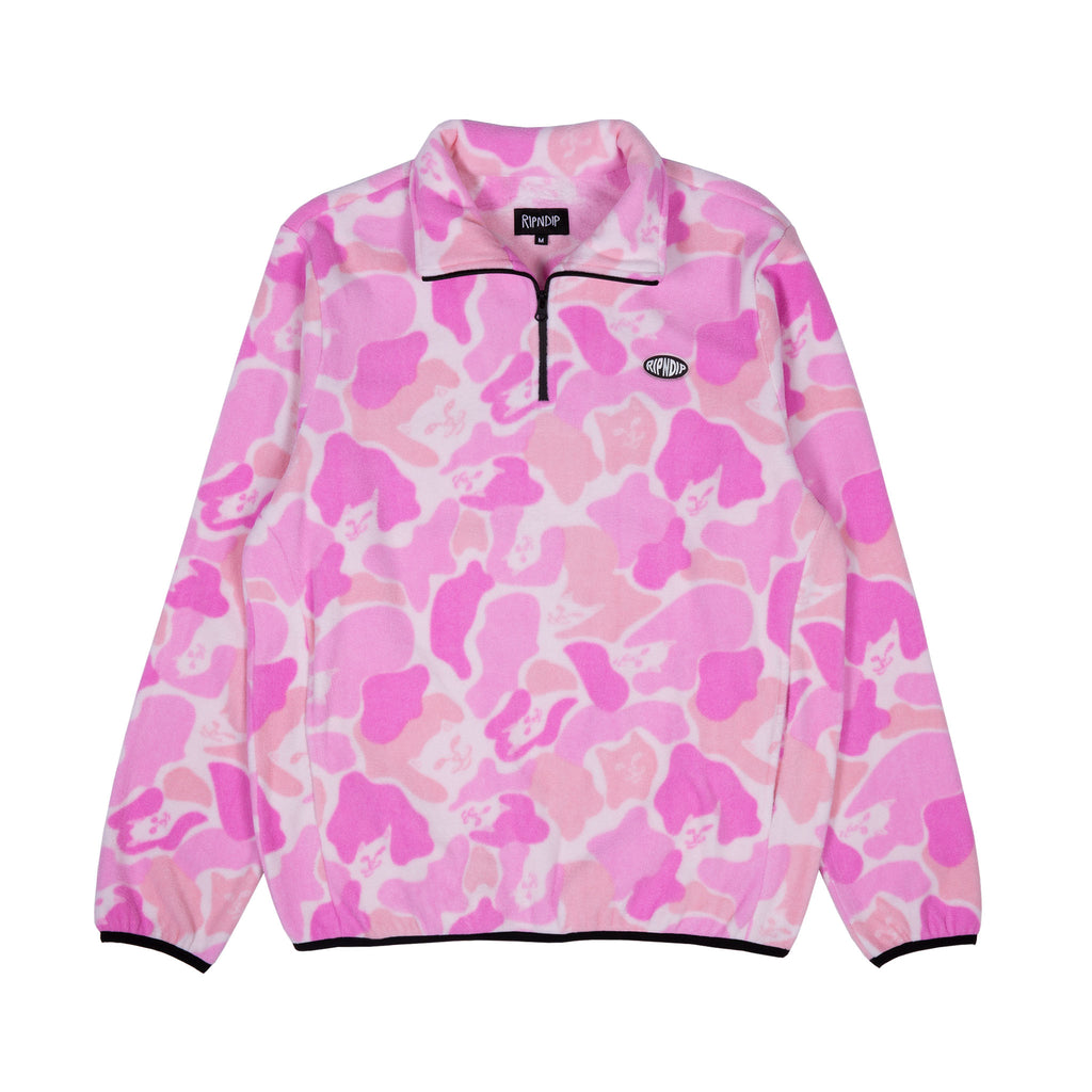 Nermcamo Brushed Fleece 3/4 Zip Up (Pink Camo)