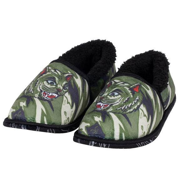 Tiger Nerm House Slippers (Green Camo)