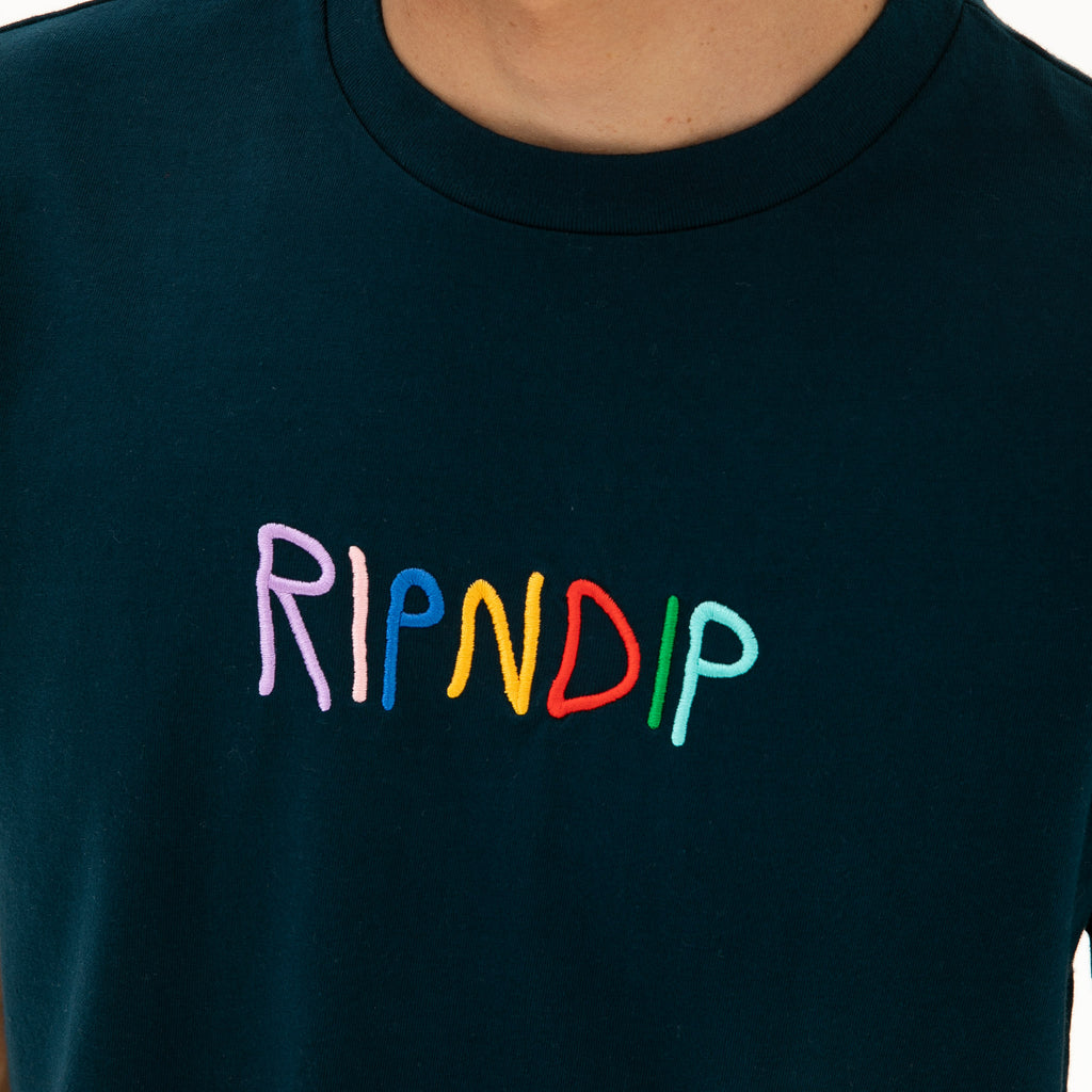 Embroidered Logo Tee (Navy)