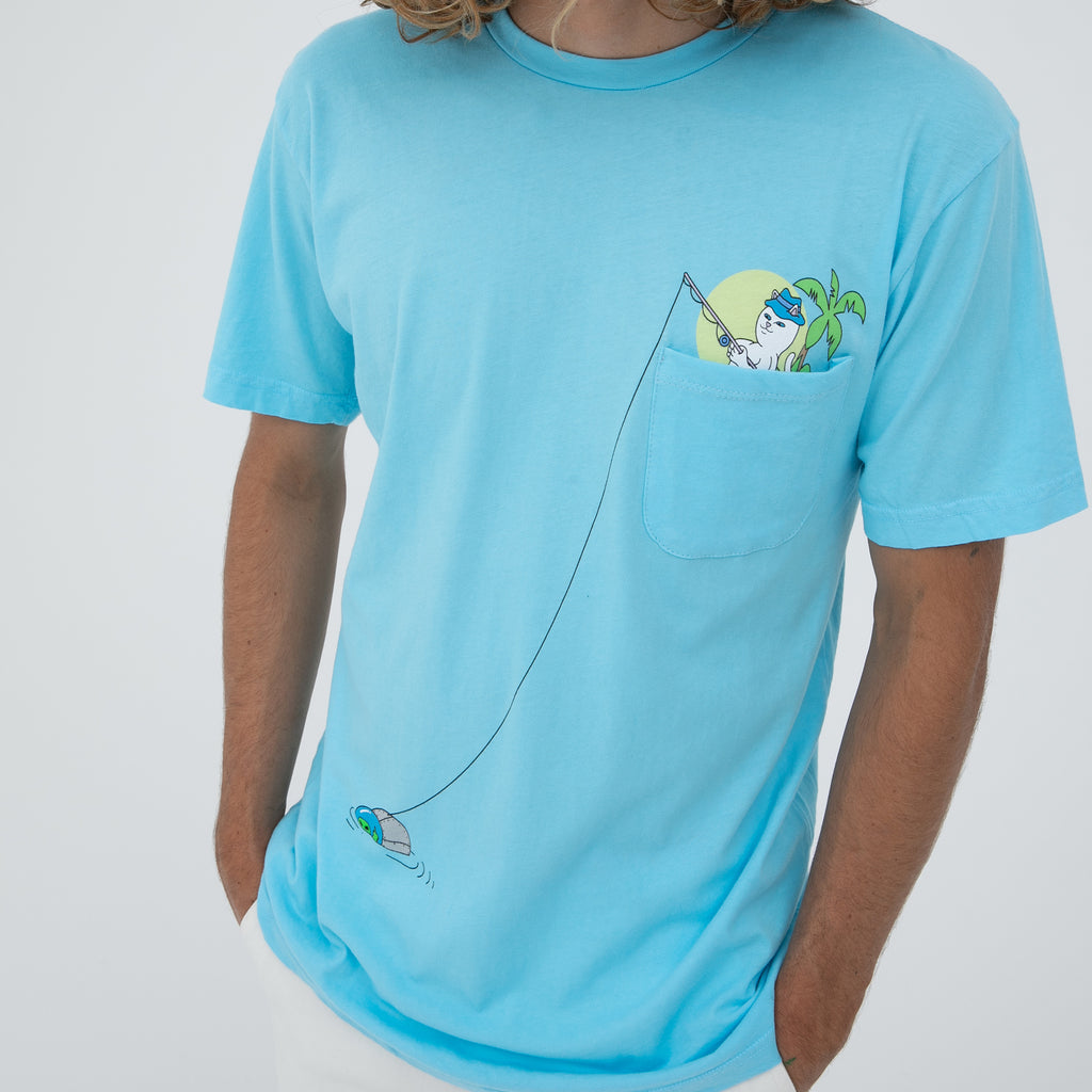 Foreign Fish Pocket Tee (Light Blue)