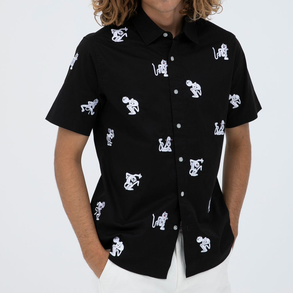Dance Party Button Up (Black)
