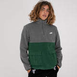 Castanza Split Half Zip Sweater (Hunter / Grey)