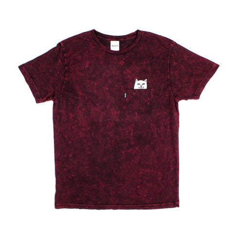 Lord Nermal Pocket Tee (Burgundy Mineral Wash)
