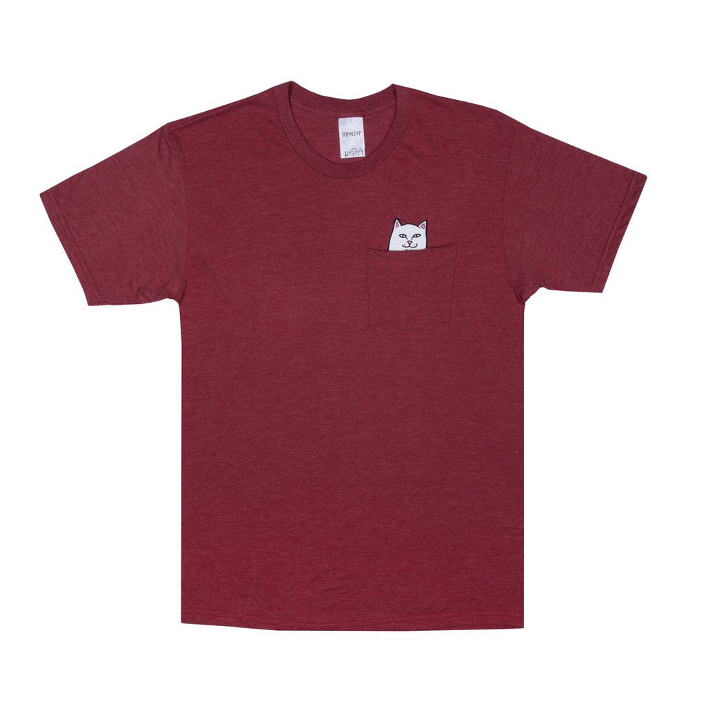 Lord Nermal Pocket Tee (Tri Blend Dark Red)