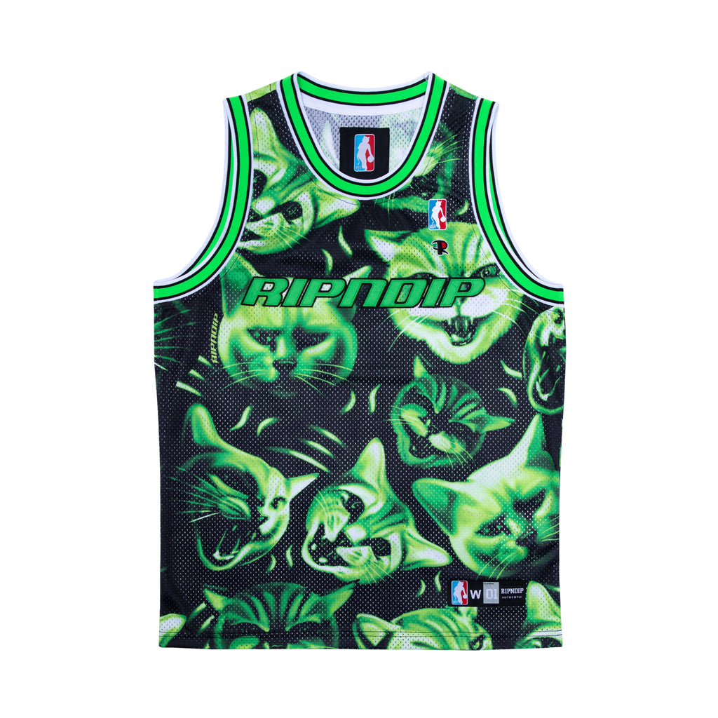 Neon Nerm Basketball Jersey (Black)