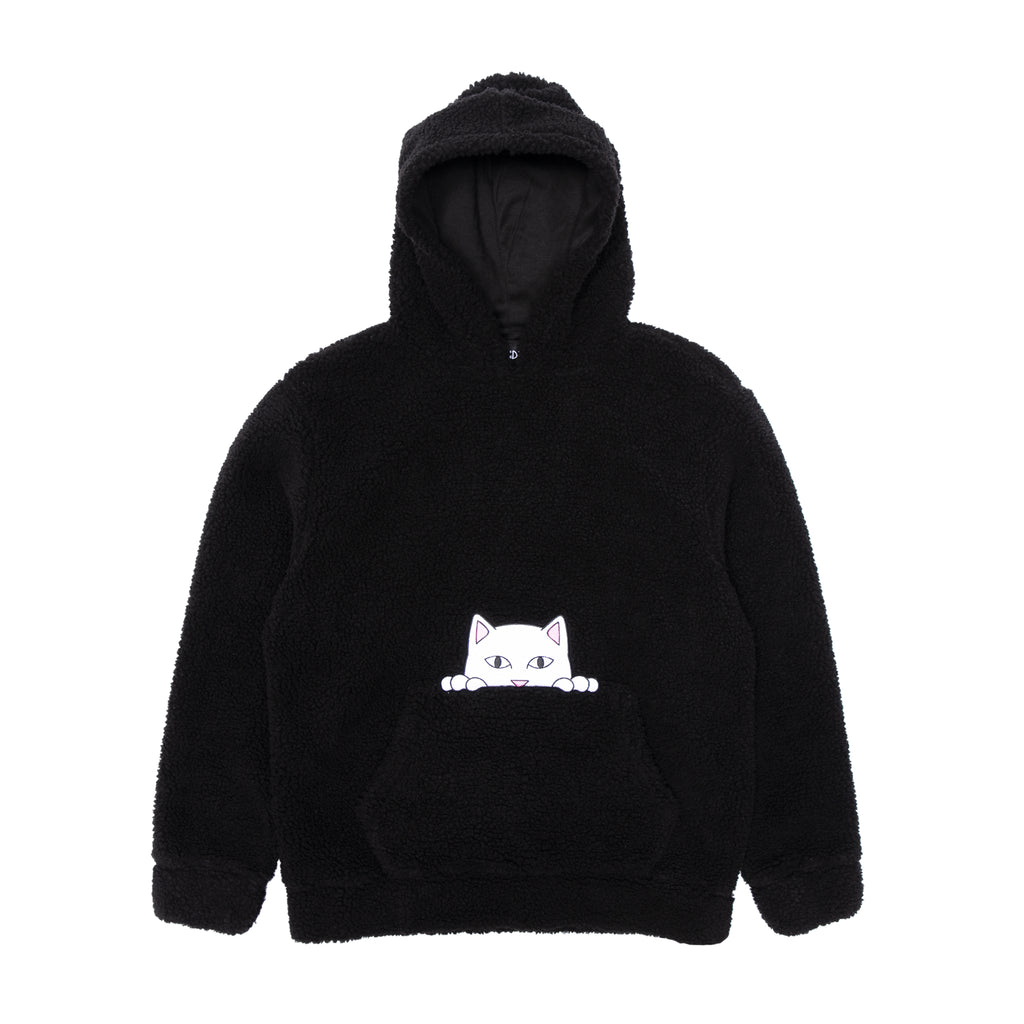 Invisible Sherpa Hoodie (Black)