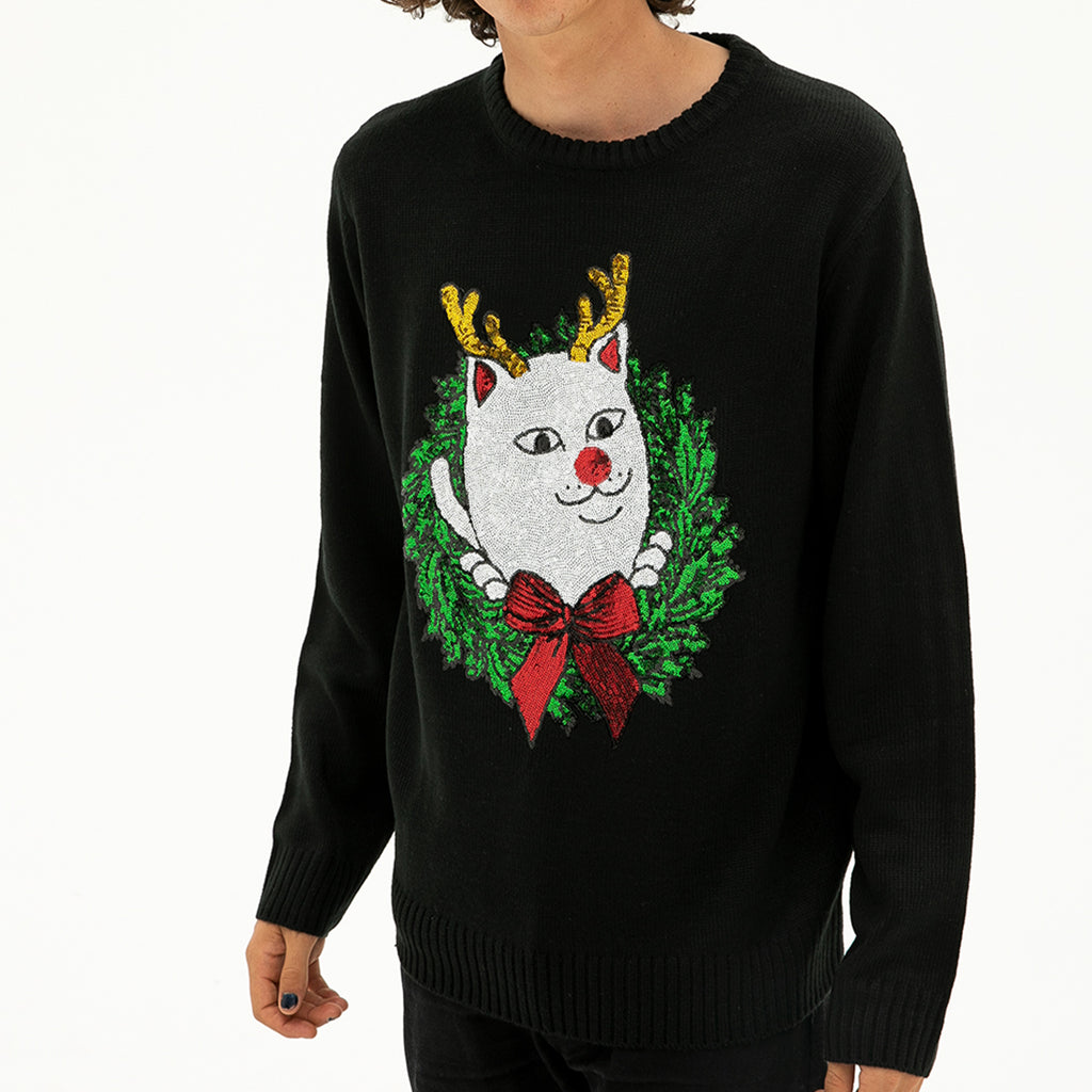 Reindeer Nerm Sweater (Black)